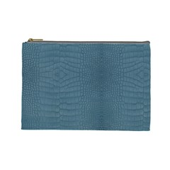 Turquoise Alligator Skin Cosmetic Bag (large) by LoolyElzayat