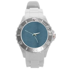 Turquoise Alligator Skin Round Plastic Sport Watch (l) by LoolyElzayat