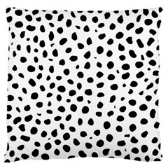 Black And White Seamless Cheetah Spots Large Flano Cushion Case (two Sides) by LoolyElzayat