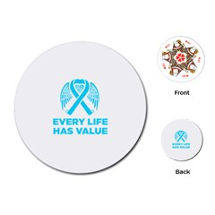 Child Abuse Prevention Support  Playing Cards Single Design (round) by artjunkie