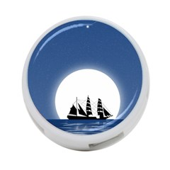 Boat Silhouette Moon Sailing 4-port Usb Hub (one Side)