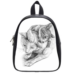 Cat Drawing Art School Bag (small)