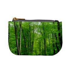 In The Forest The Fullness Of Spring, Green, Mini Coin Purse by MartinsMysteriousPhotographerShop