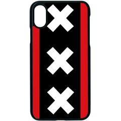 Vertical Amsterdam Flag Iphone Xs Seamless Case (black) by abbeyz71