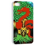 Ragnarok Dragon Monster iPhone 4/4s Seamless Case (White) Front