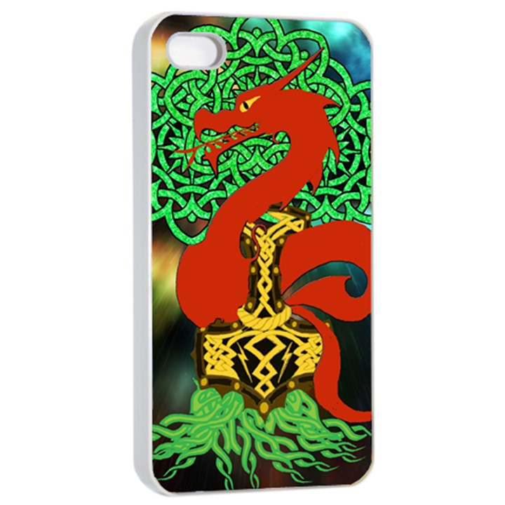 Ragnarok Dragon Monster iPhone 4/4s Seamless Case (White)