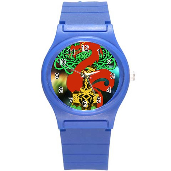 Ragnarok Dragon Monster Round Plastic Sport Watch (S)