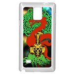Ragnarok Dragon Monster Samsung Galaxy Note 4 Case (White) Front