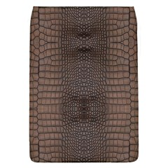 Brown Alligator Leather Skin Removable Flap Cover (l) by LoolyElzayat