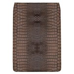 Brown Alligator Leather Skin Removable Flap Cover (L) Front