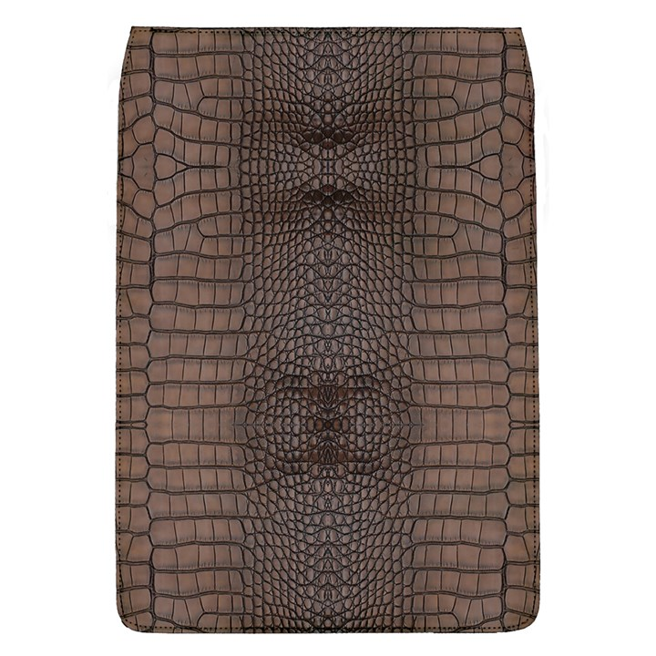 Brown Alligator Leather Skin Removable Flap Cover (L)
