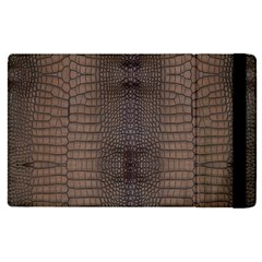 Brown Alligator Leather Skin Apple Ipad Pro 12 9   Flip Case by LoolyElzayat