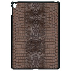 Brown Alligator Leather Skin Apple Ipad Pro 9 7   Black Seamless Case by LoolyElzayat
