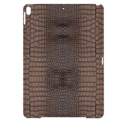 Brown Alligator Leather Skin Apple Ipad Pro 10 5   Black Uv Print Case by LoolyElzayat
