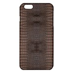 Brown Alligator Leather Skin iPhone 6 Plus/6S Plus TPU Case Front