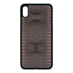 Brown Alligator Leather Skin Iphone Xs Max Seamless Case (black) by LoolyElzayat