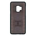 Brown Alligator Leather Skin Samsung Galaxy S9 Seamless Case(Black) Front