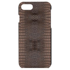 Brown Alligator Leather Skin Iphone 7/8 Black Uv Print Case by LoolyElzayat