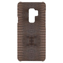 Brown Alligator Leather Skin Samsung S9 Plus Black Uv Print Case by LoolyElzayat