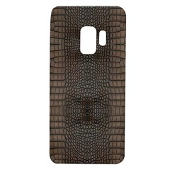 Brown Alligator Leather Skin Samsung Galaxy S9 Tpu Uv Case by LoolyElzayat