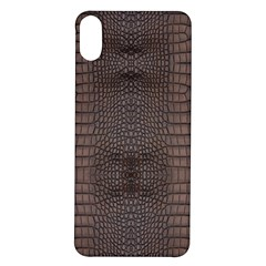 Brown Alligator Leather Skin Iphone X/xs Soft Bumper Uv Case by LoolyElzayat