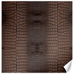 Brown Alligator Leather Skin Canvas 12  x 12  11.4 x11.56  Canvas - 1