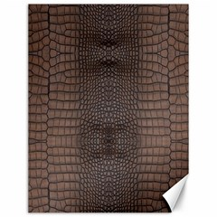 Brown Alligator Leather Skin Canvas 12  X 16  by LoolyElzayat