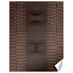 Brown Alligator Leather Skin Canvas 18  X 24  by LoolyElzayat