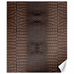 Brown Alligator Leather Skin Canvas 20  X 24  by LoolyElzayat