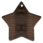 Brown Alligator Leather Skin Ornament (Star) Front