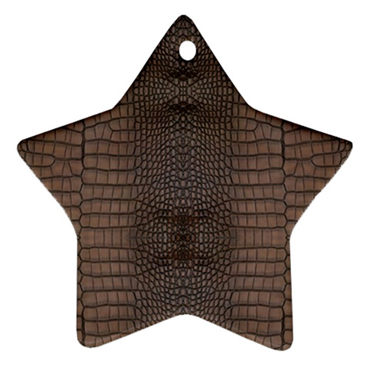 Brown Alligator Leather Skin Ornament (Star)