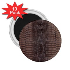 Brown Alligator Leather Skin 2 25  Magnets (10 Pack)  by LoolyElzayat