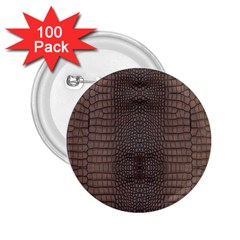 Brown Alligator Leather Skin 2 25  Buttons (100 Pack)  by LoolyElzayat