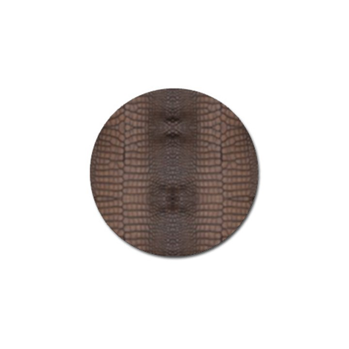 Brown Alligator Leather Skin Golf Ball Marker