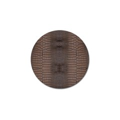 Brown Alligator Leather Skin Golf Ball Marker (10 Pack) by LoolyElzayat