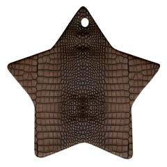 Brown Alligator Leather Skin Star Ornament (two Sides) by LoolyElzayat