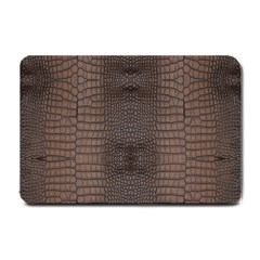 Brown Alligator Leather Skin Small Doormat  by LoolyElzayat