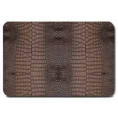Brown Alligator Leather Skin Large Doormat  by LoolyElzayat
