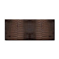 Brown Alligator Leather Skin Hand Towel by LoolyElzayat