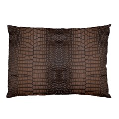 Brown Alligator Leather Skin Pillow Case