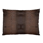 Brown Alligator Leather Skin Pillow Case 26.62 x18.9  Pillow Case
