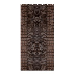 Brown Alligator Leather Skin Shower Curtain 36  X 72  (stall)
