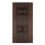 Brown Alligator Leather Skin Shower Curtain 36  x 72  (Stall)  33.26 x66.24  Curtain