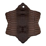 Brown Alligator Leather Skin Ornament (Snowflake) Front