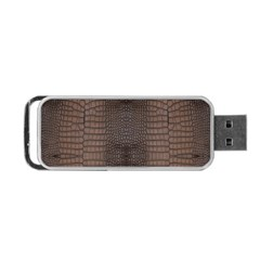 Brown Alligator Leather Skin Portable Usb Flash (one Side)