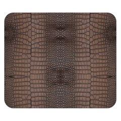 Brown Alligator Leather Skin Double Sided Flano Blanket (small)  by LoolyElzayat