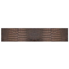Brown Alligator Leather Skin Small Flano Scarf