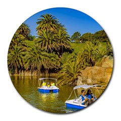 Parque Rodo Park, Montevideo, Uruguay Round Mousepads by dflcprintsclothing