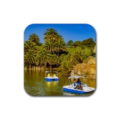 Parque Rodo Park, Montevideo, Uruguay Rubber Coaster (square)  by dflcprintsclothing