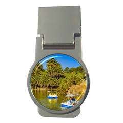Parque Rodo Park, Montevideo, Uruguay Money Clips (round)  by dflcprintsclothing